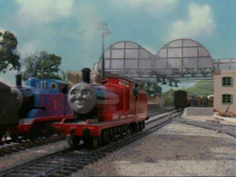 James passed Thomas at Tidmouth station