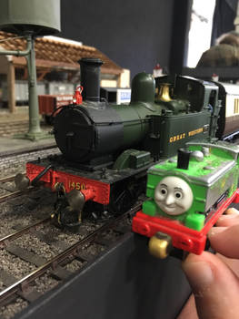 Duck and 1450 at Howarth Junction O Garge layout