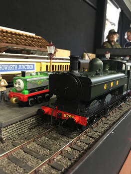 Duck and the 57xx Pannier Tank at Howarth Junction