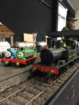 Thomas, Duck and 1450 at Howarth Junction layout