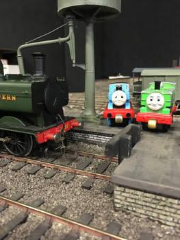 Thomas, Duck and the Pannier Tank at Howarth