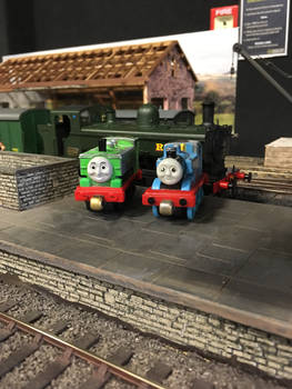 Thomas, Duck and another 57xx at Howarth Junction