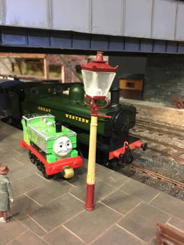 Duck and 5700 at Howarth Junction O gauge layout