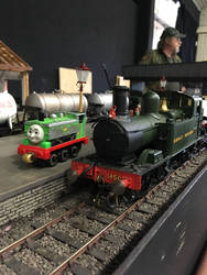 Duck and SVR's 1450 at Howarth Junction layout