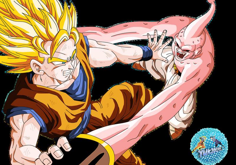 Goku vs Majin Buu by Yukio1916 on DeviantArt