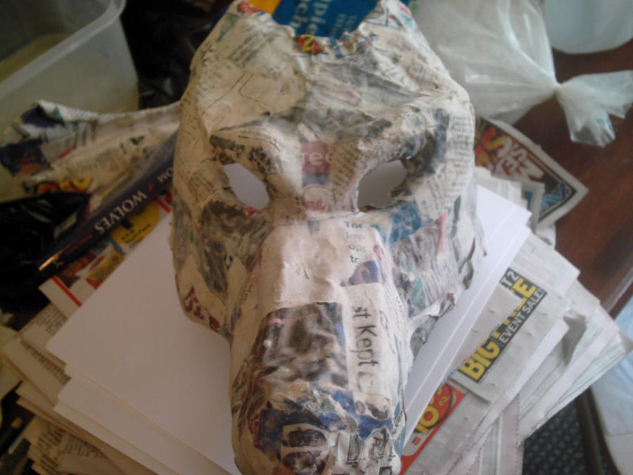 Сделать страшную маску из бумаги своими руками 78