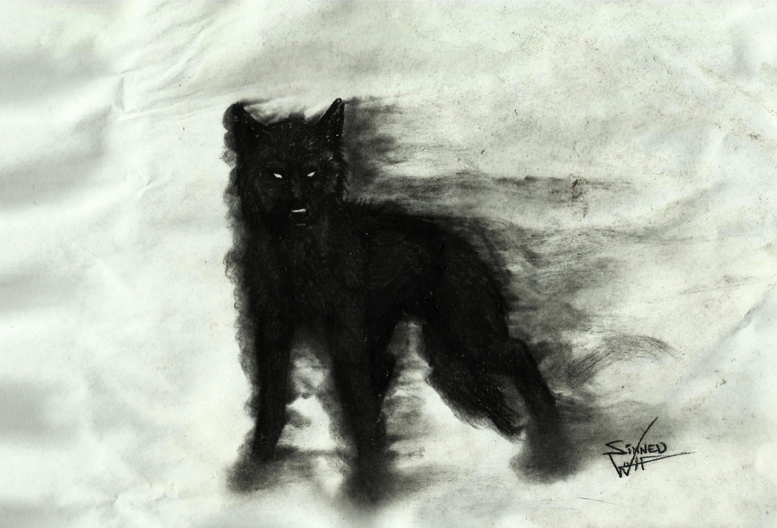 Demon dog by ~SinnedWolf