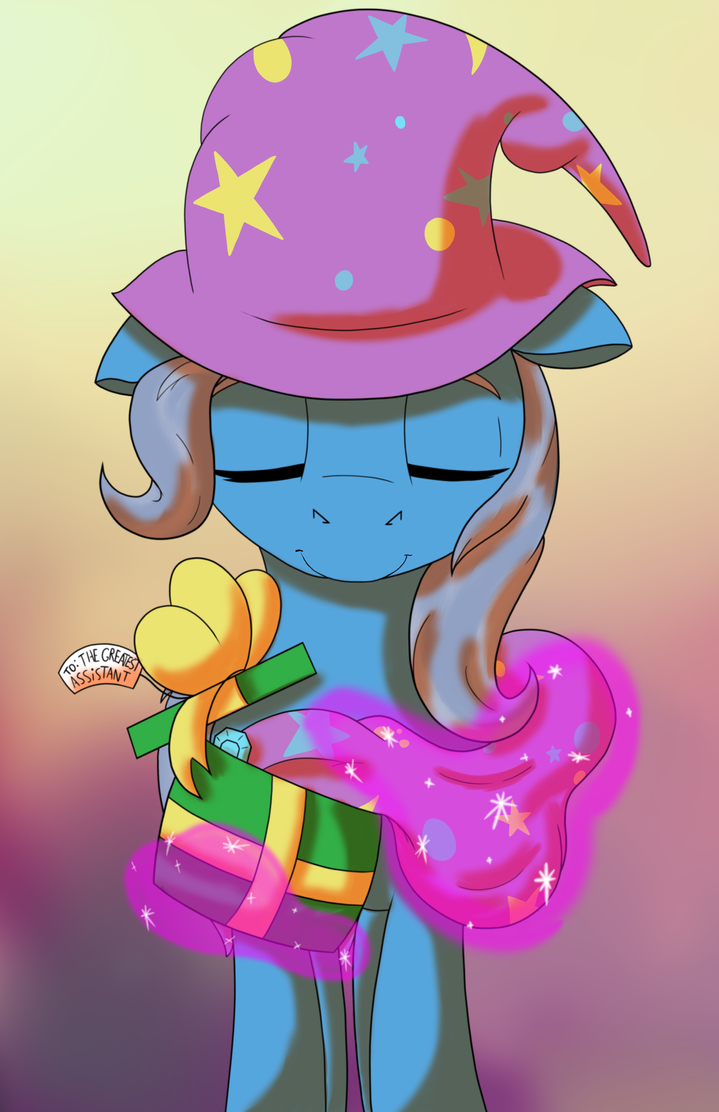 Trixie's Gift by lula-moonarts