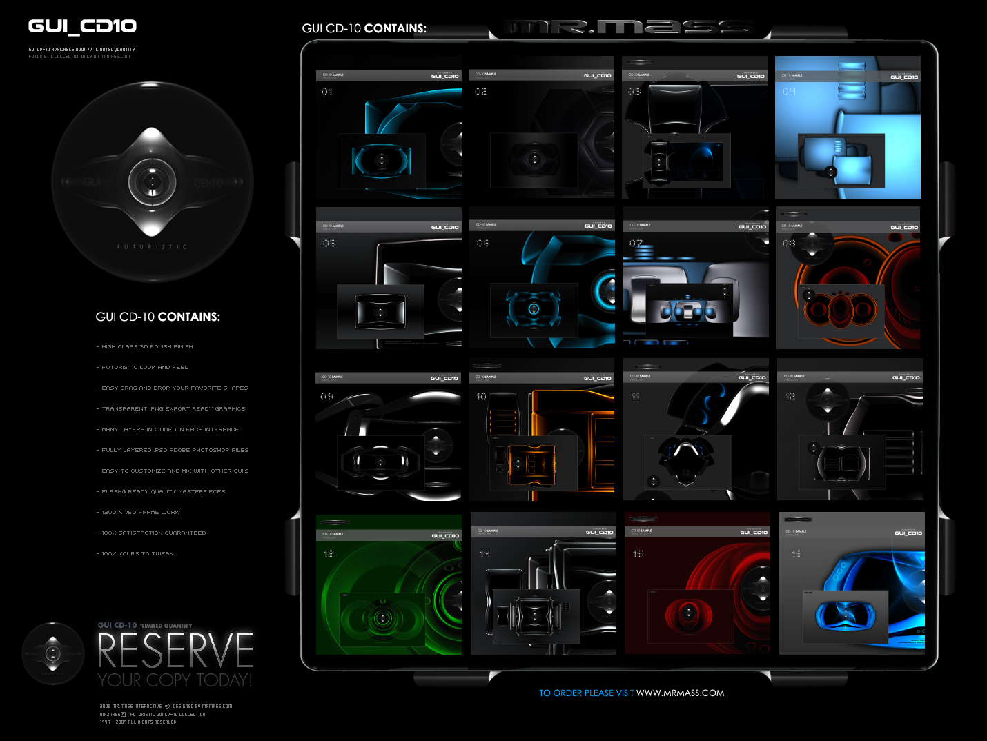 Futuristic GUI CD-10 Concept by mrmass
