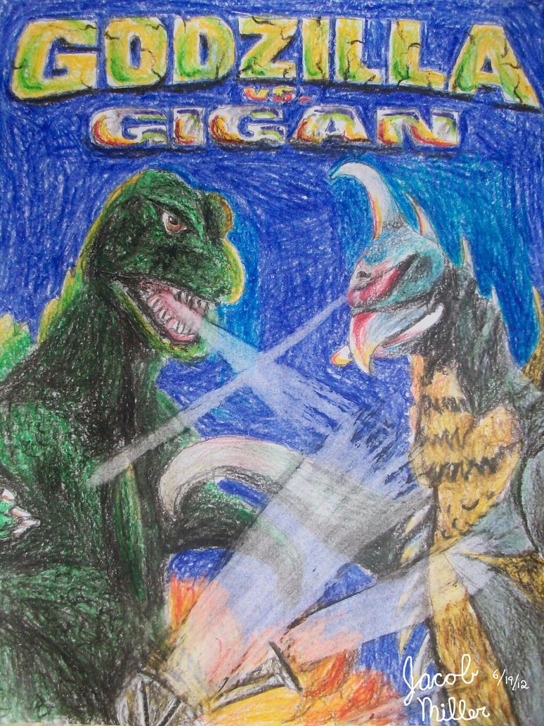 Godzilla vs. Gigan by pink12301