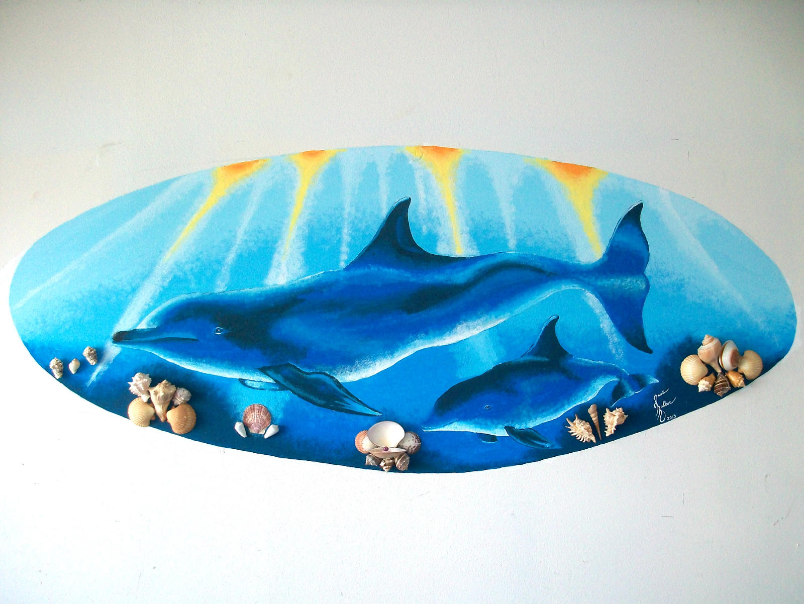 Dolphin wall mural by pink12301 on deviantart for Dolphin wall mural
