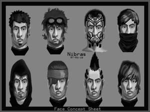 Face Concepts Sheet