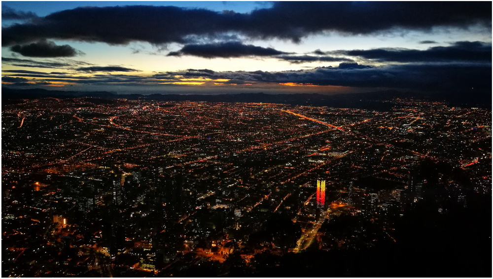 Night view of Bogota by MarcoFiorentini