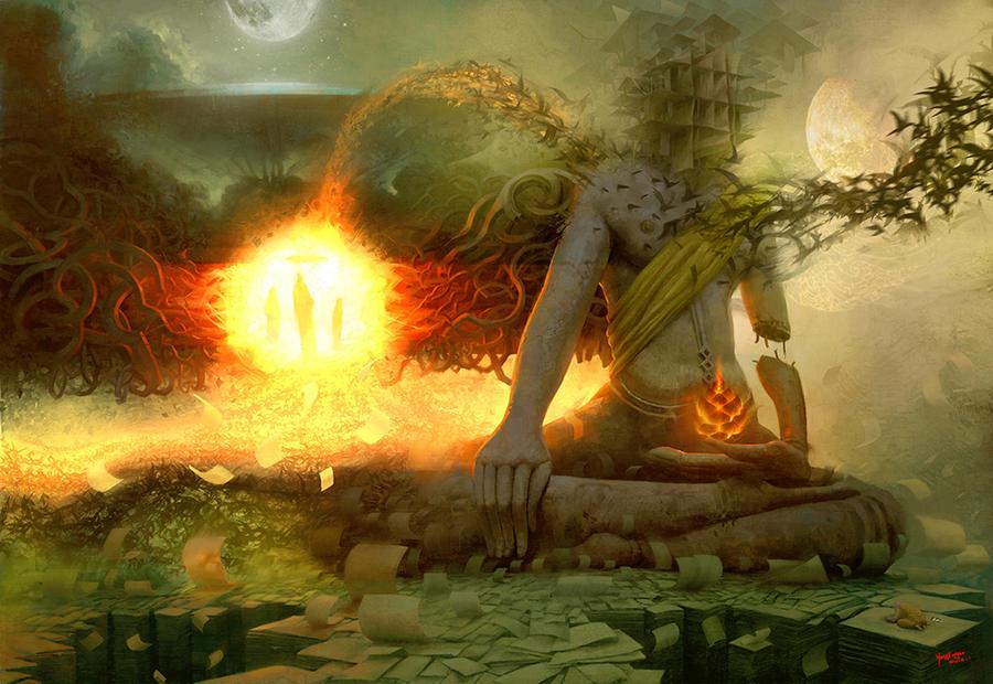 Meditation 2 by yangxueguo on deviantart - Meditation art wallpaper ...