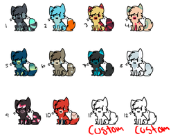 Kitty Adoptables Batch   4 OPEN   by AdoptingLove