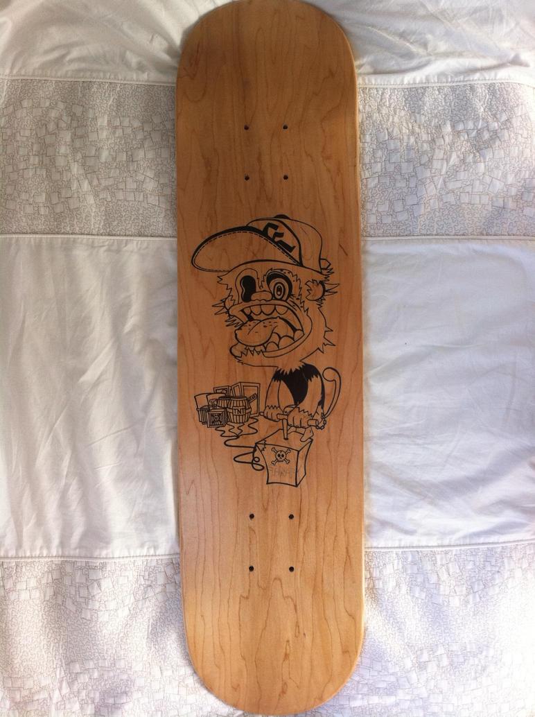 skateboard deck design outline by no name 01