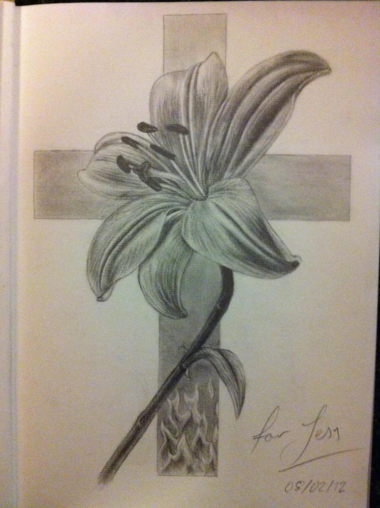 Flower And Cross Tattoo Design By No Name 01 On Deviantart