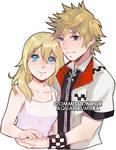 [CM] Kingdom Hearts - Namine and Roxas by RedTaiga