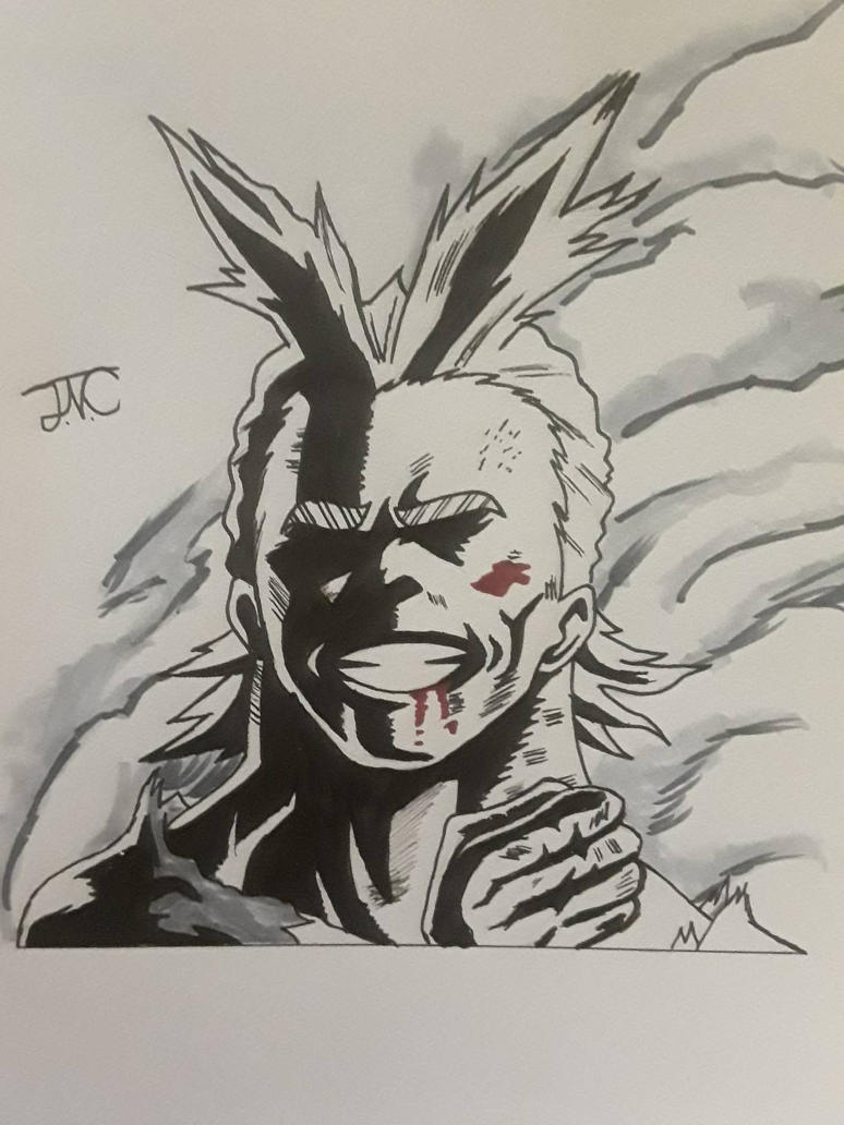 All Might (Inktober)  by MosakeJarakio