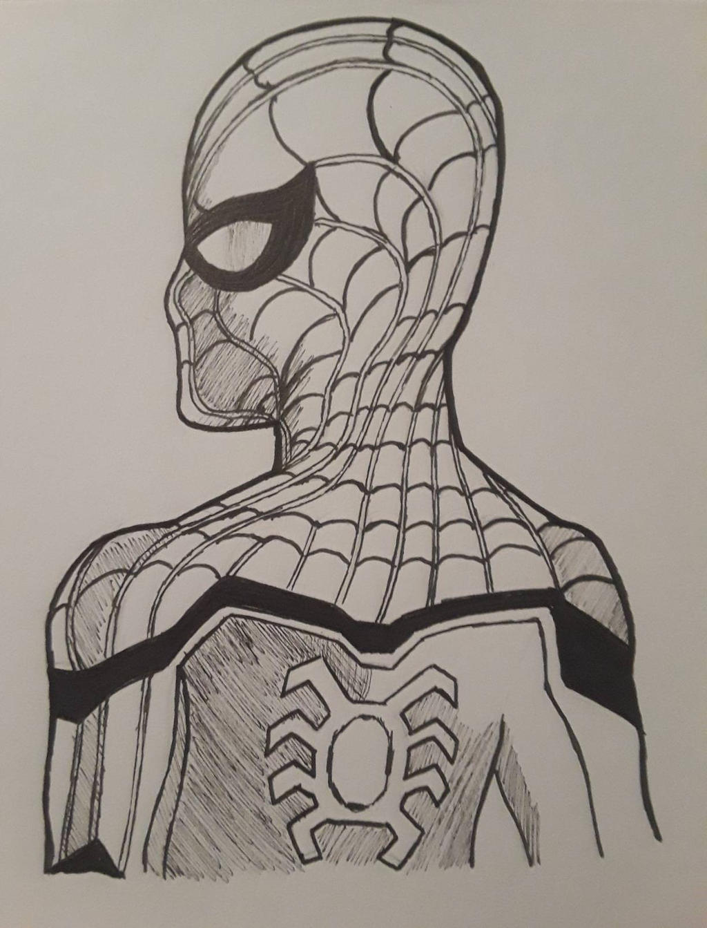 Spider-Man Homecoming (Inktober) by MosakeJarakio