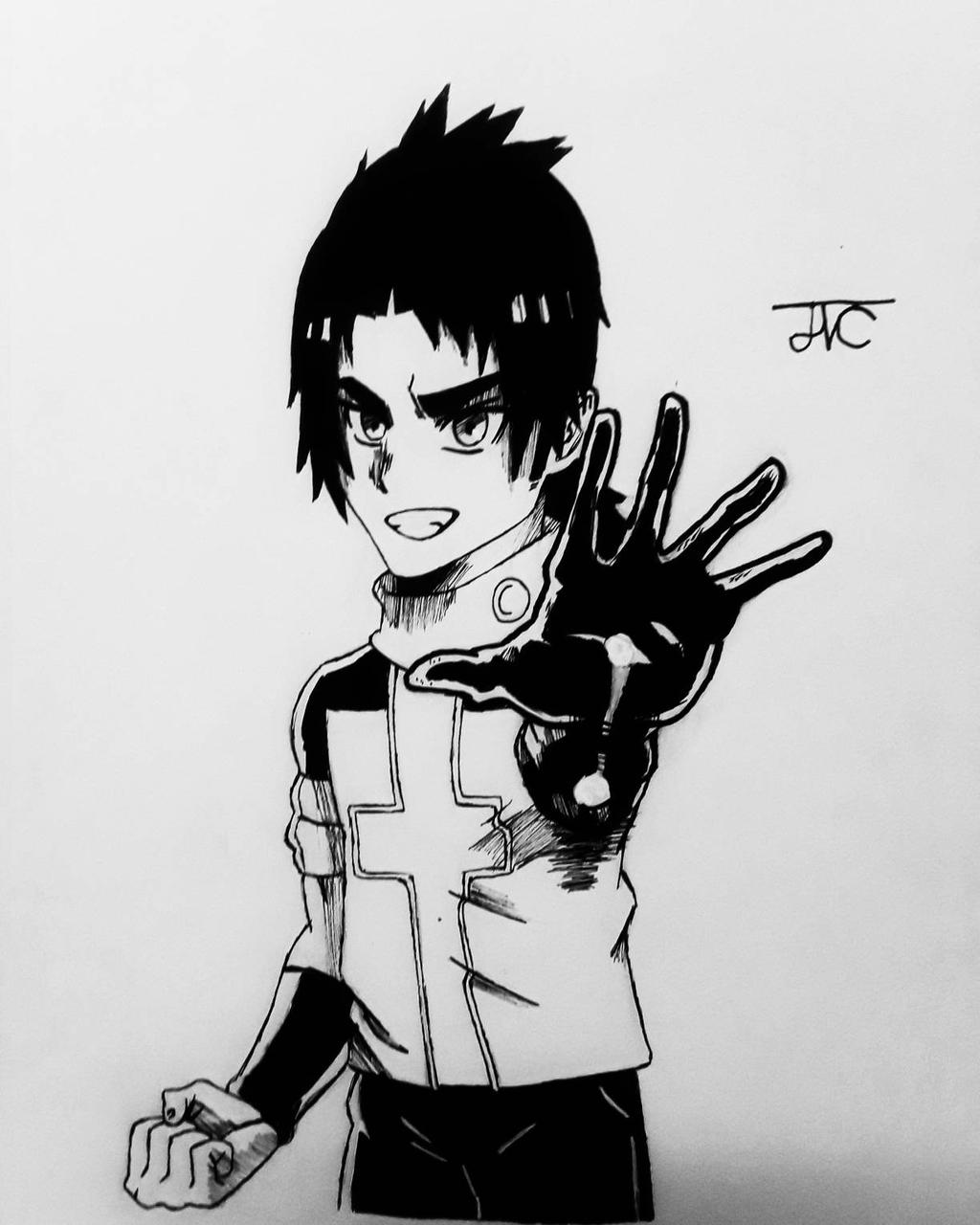 Sano Tamashii - Apple Black (Inktober)  by MosakeJarakio