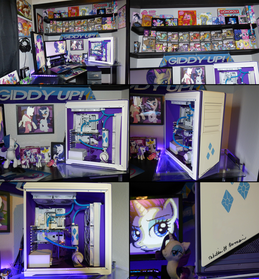 my collection battlestation ft rarity themed pc by rag567 on deviantart