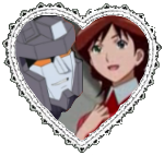 Starscream and Alexis Stamp by Dragon-Star-Empress
