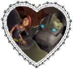 Miko and Bulkhead Heart Stamp by Dragon-Star-Empress