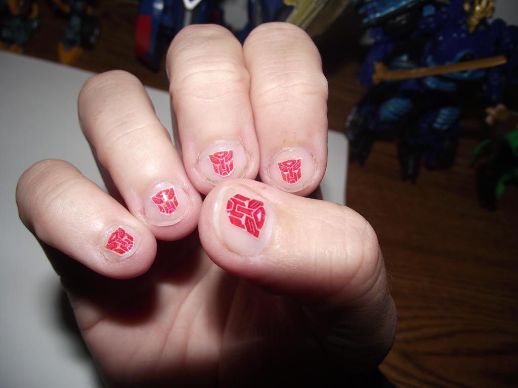 Autobot Nails by Dragon-Star-Empress on DeviantArt
