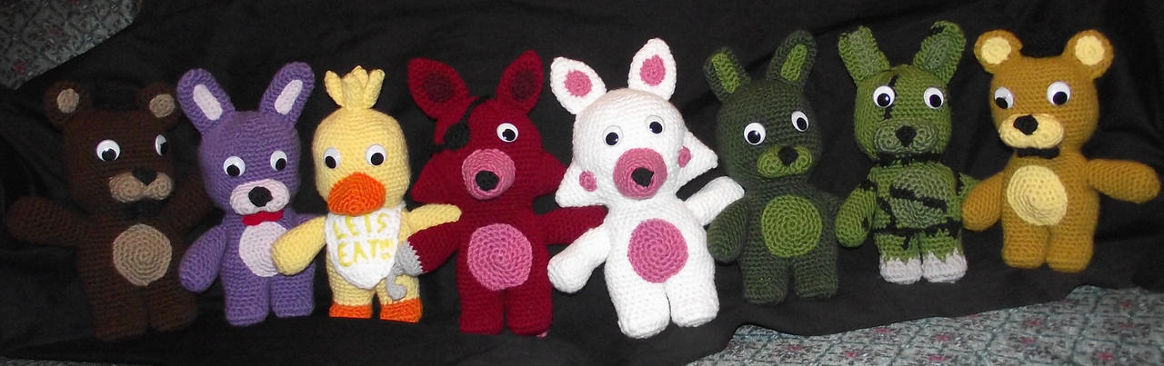Five Nights at Freddys Plushies by Dragon-Star-Empress