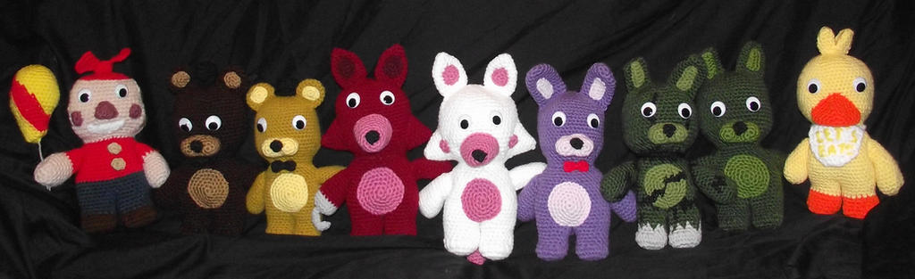 Five Nights at Freddys Plushies 2 by Dragon-Star-Empress