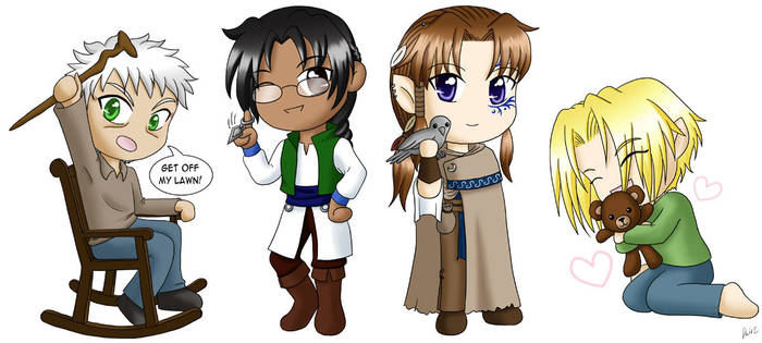 Tamuran Chibis by robynhime