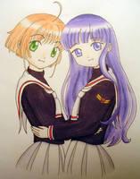 Sakura and Tomoyo by robynhime