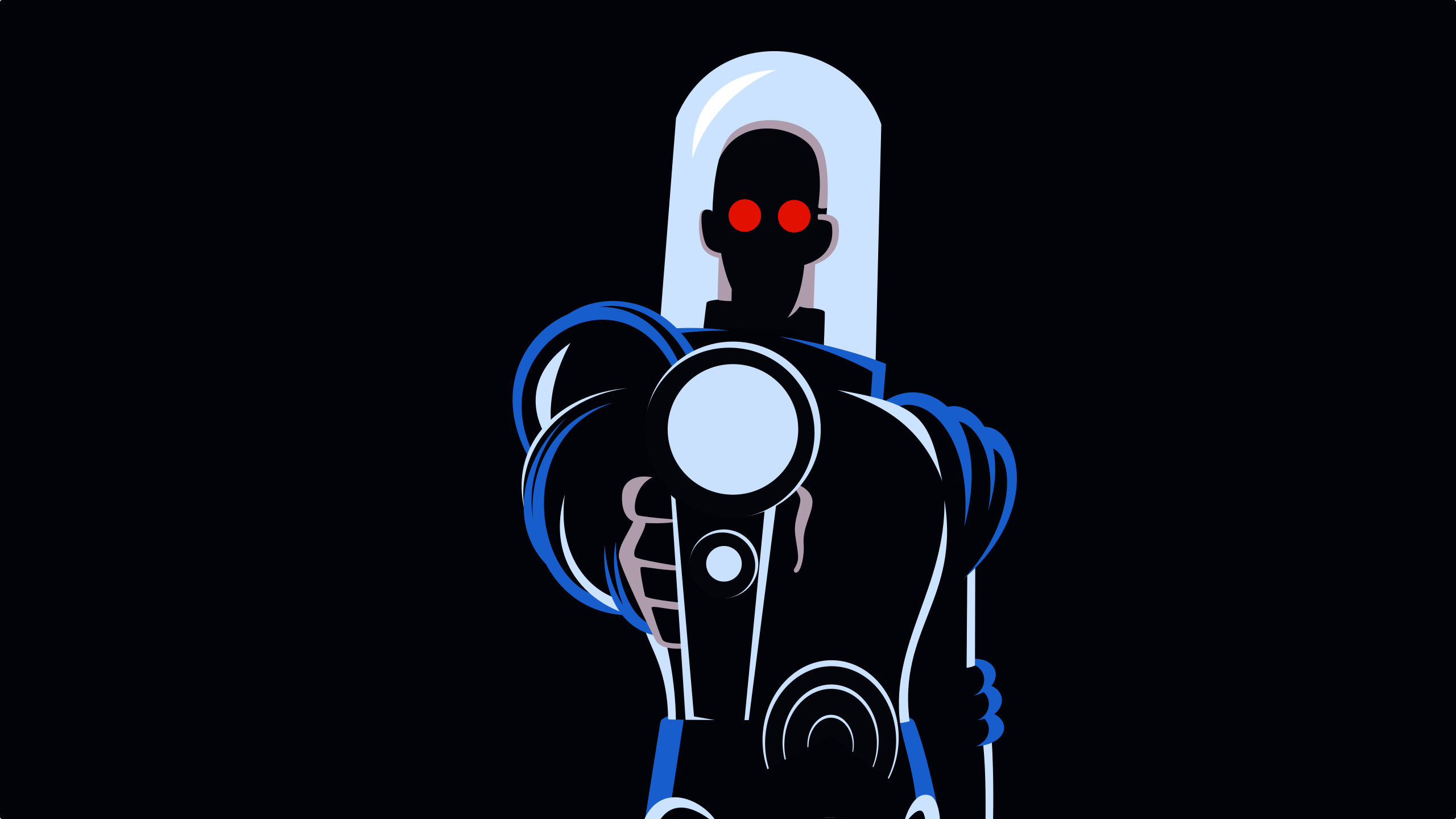 dc comics mr freeze minimalism wallpaper by carionto on
