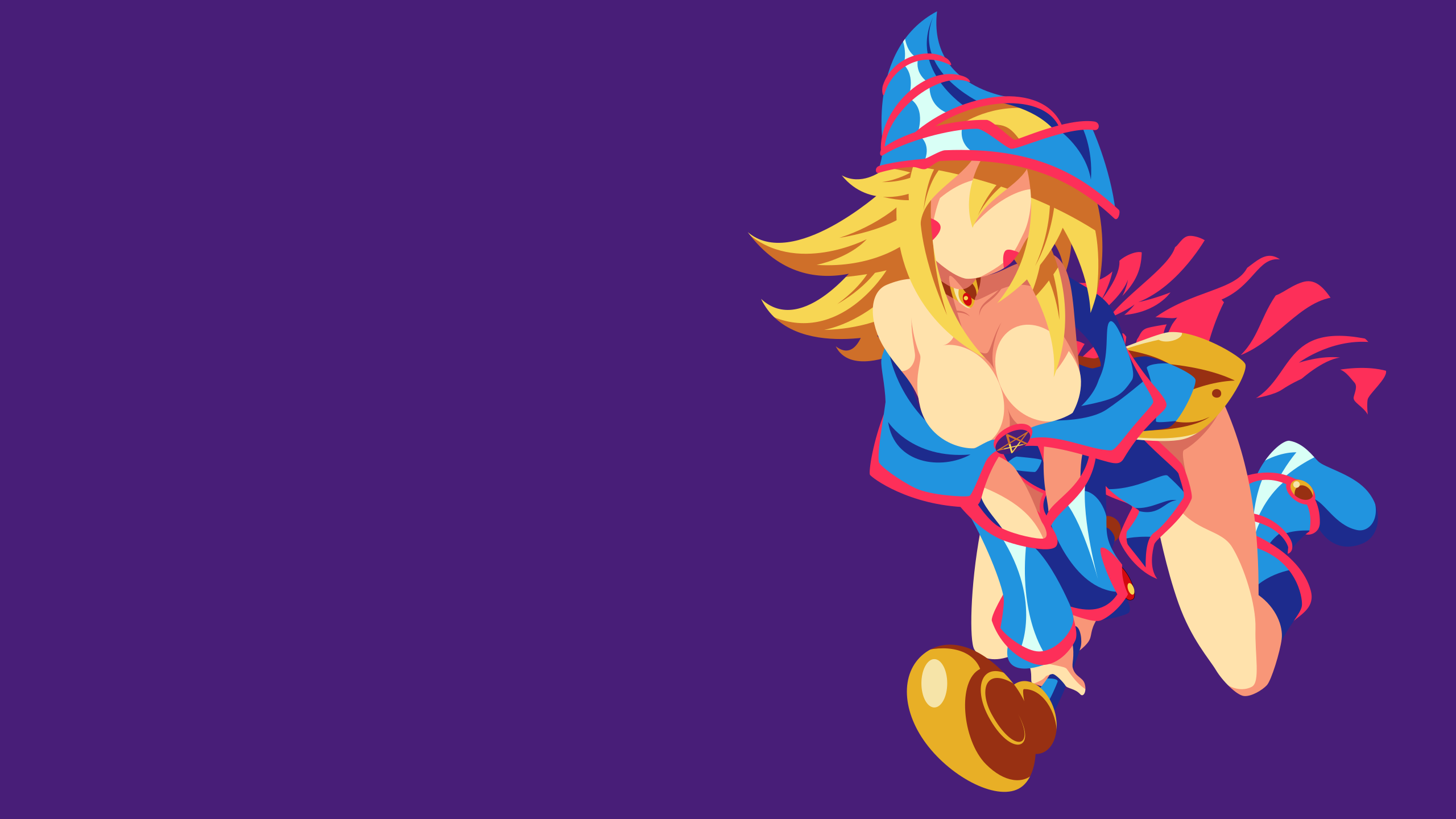 Yugioh dark magician girl minimalism wallpaper by for Deviantart minimal wallpaper