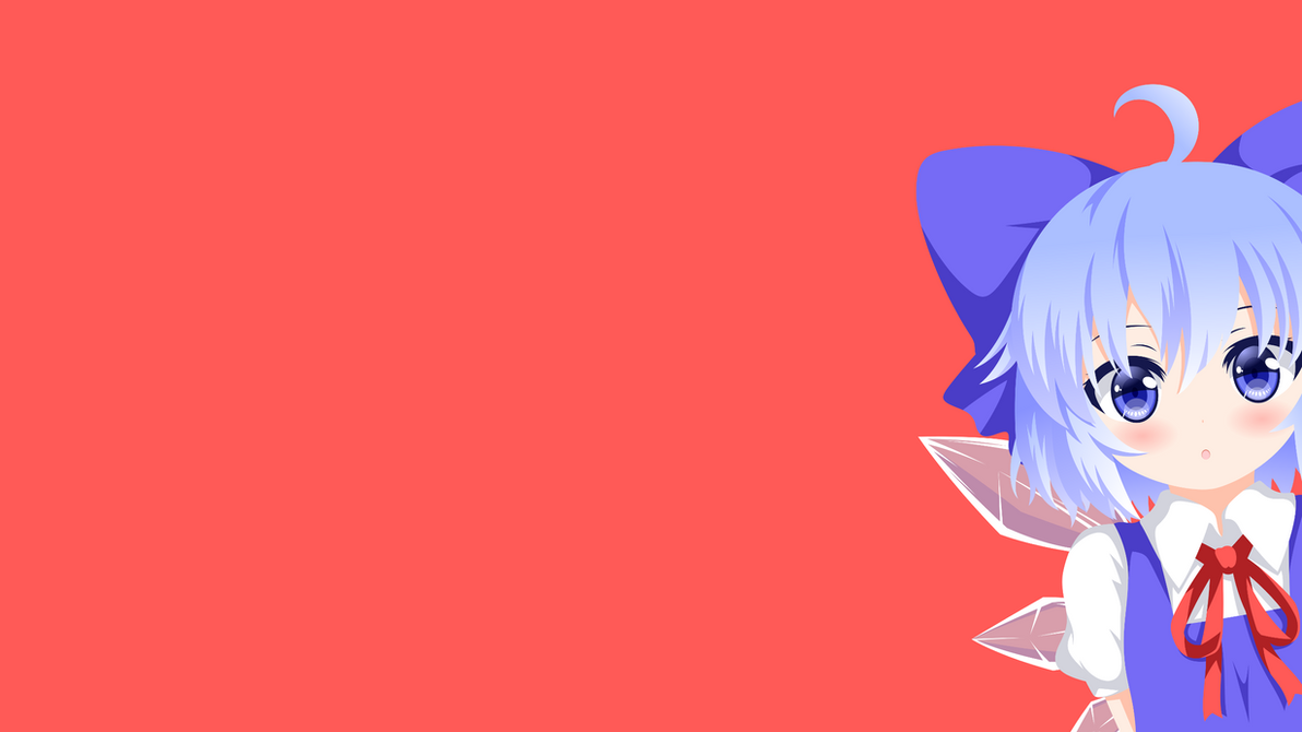 touhou cirno minimalism wallpaper by carionto on deviantart