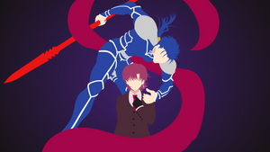 Fate - Bazett and Lancer minimalism wallpaper by Carionto