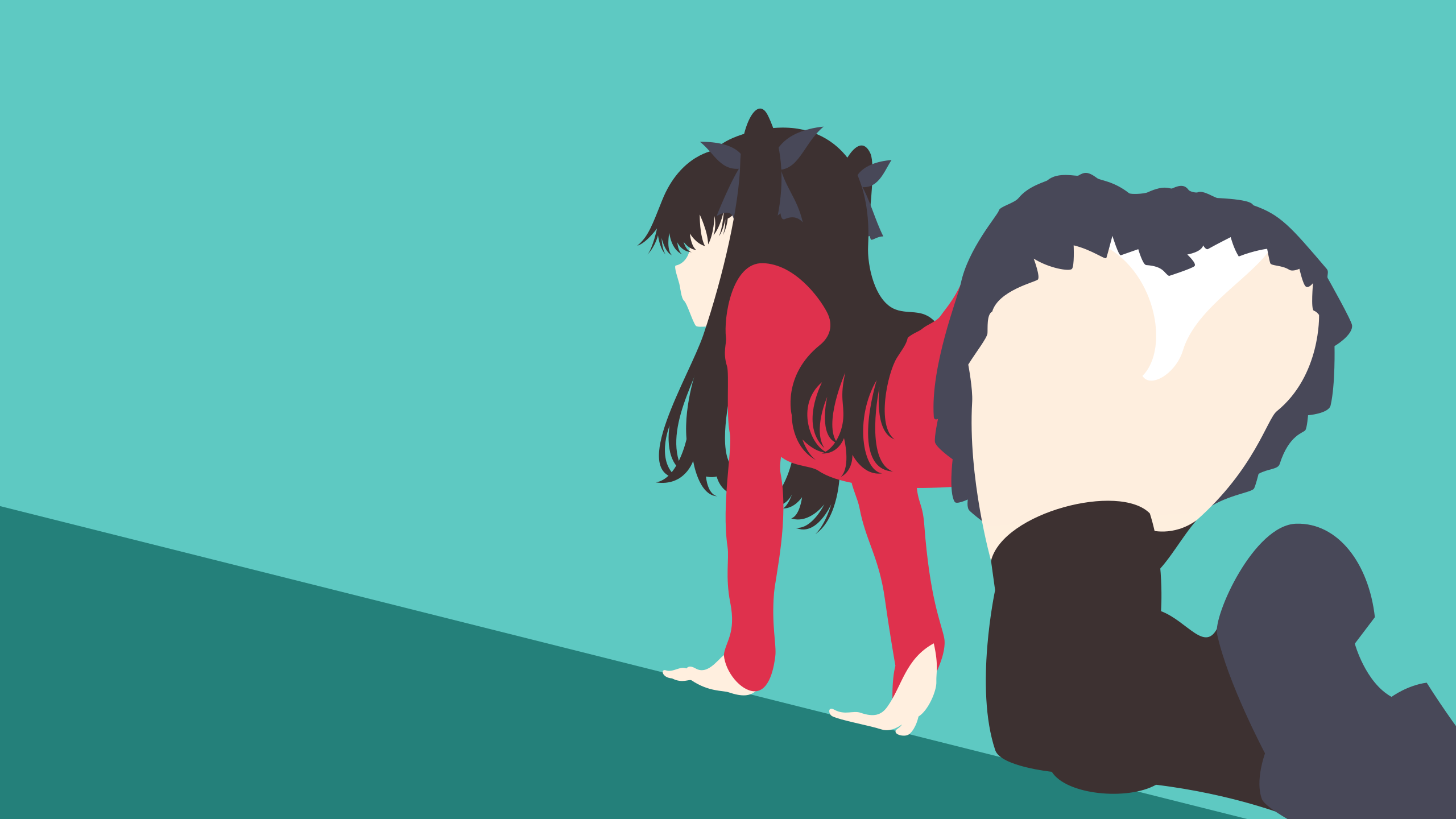 Fate Series - Tohsaka Rin minimalism wallpaper by Carionto