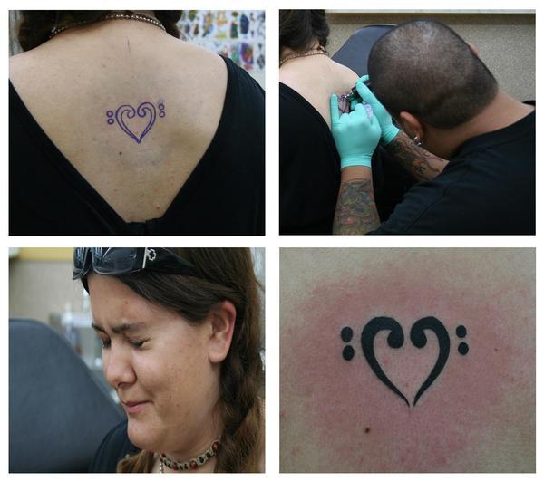 me getting my tattoo