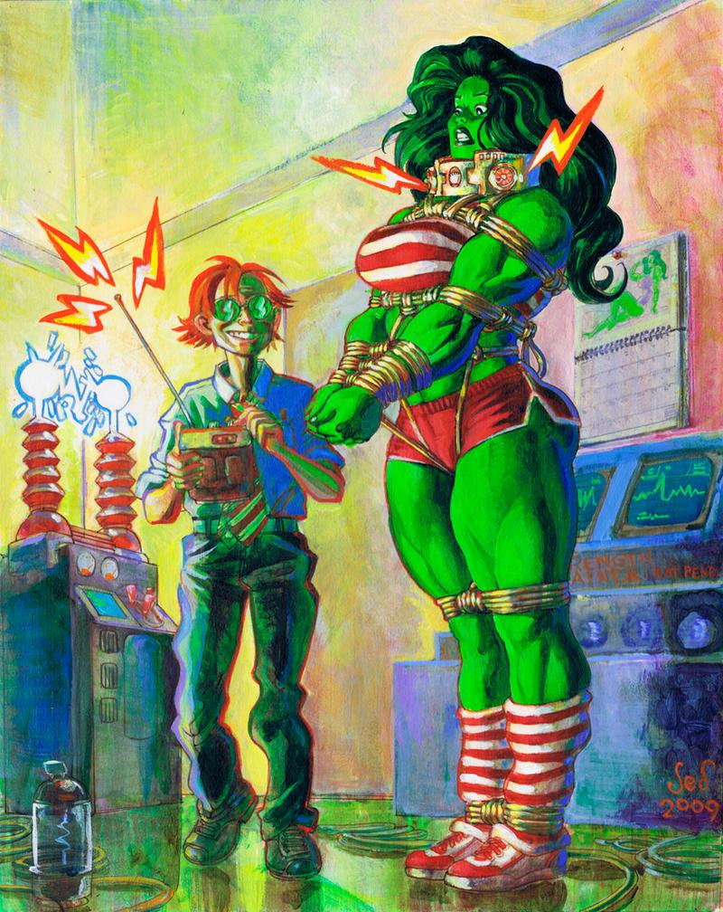 Commission: She Hulk Bound by Jebriodo