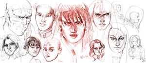 Faces Sketchdump 2 by Jebriodo