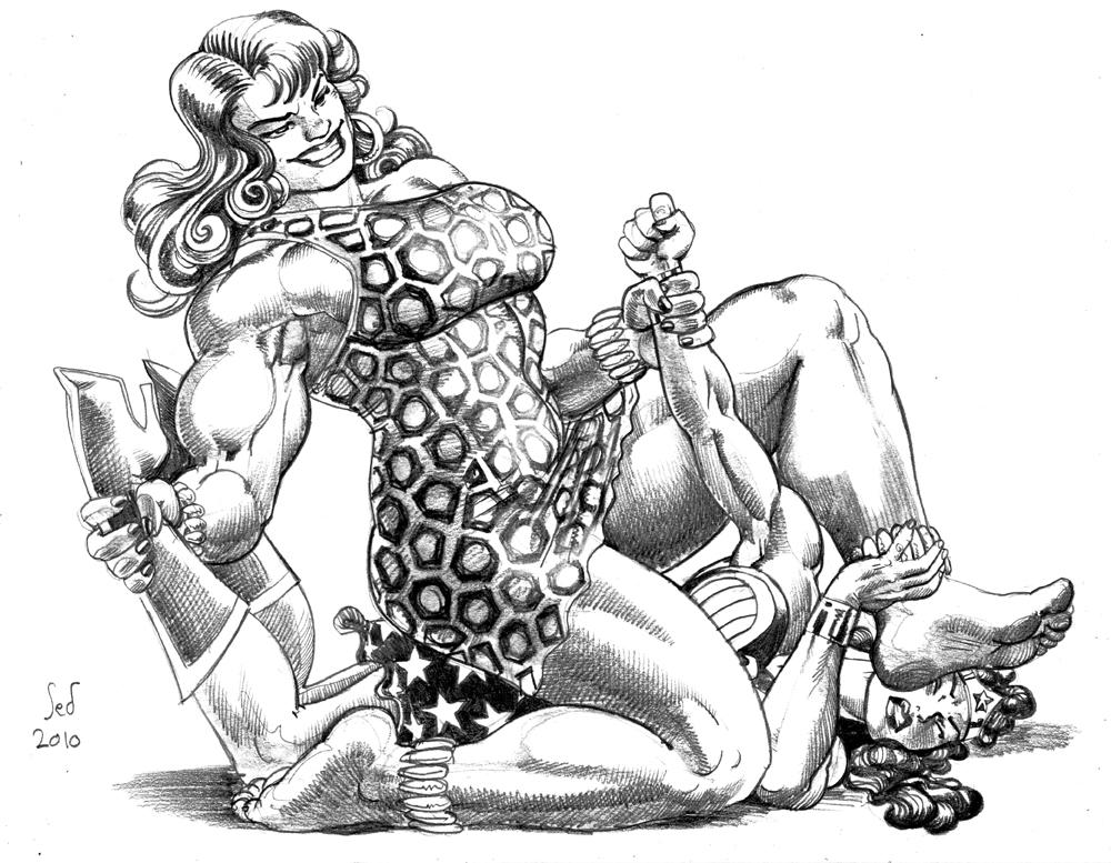 Commission: Giganta vs WW by Jebriodo