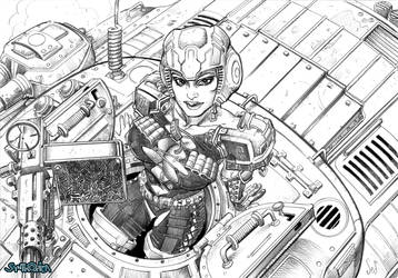 Tank Girl- concept art by Jebriodo