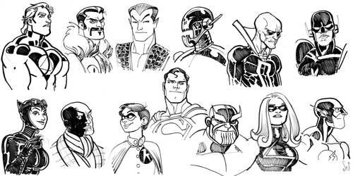 Super Hero faces