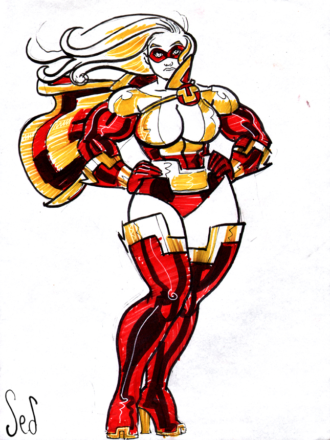 UltraVixen color sketch by Jebriodo