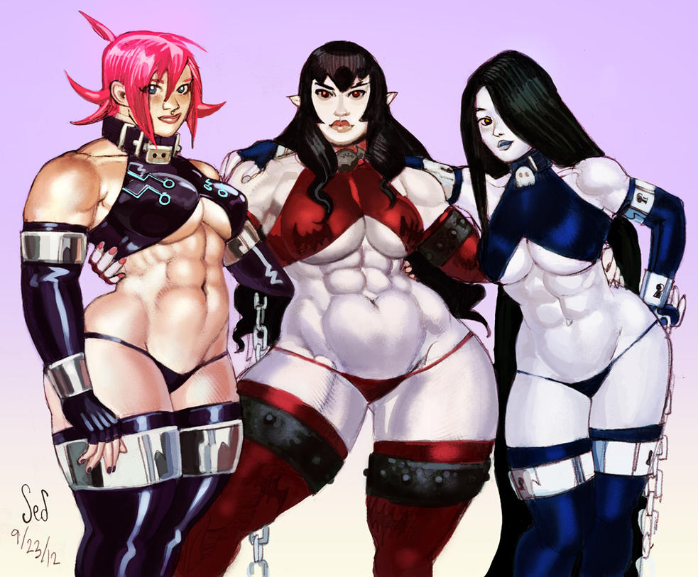 Battlesuit Girls Nell, Carmella and Alice by Jebriodo