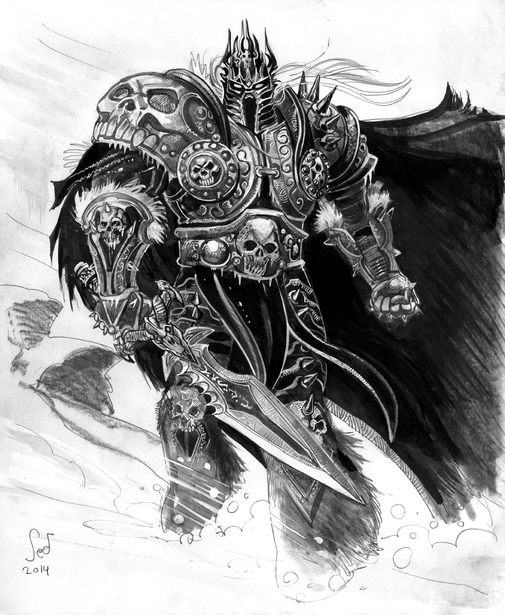 Arthas the Lich King commission by Jebriodo