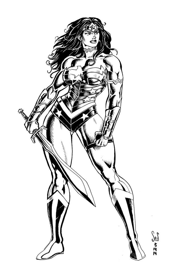 Wonder Woman pinup by Jebriodo