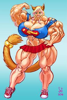 Catgirl Gigi Muscle commission