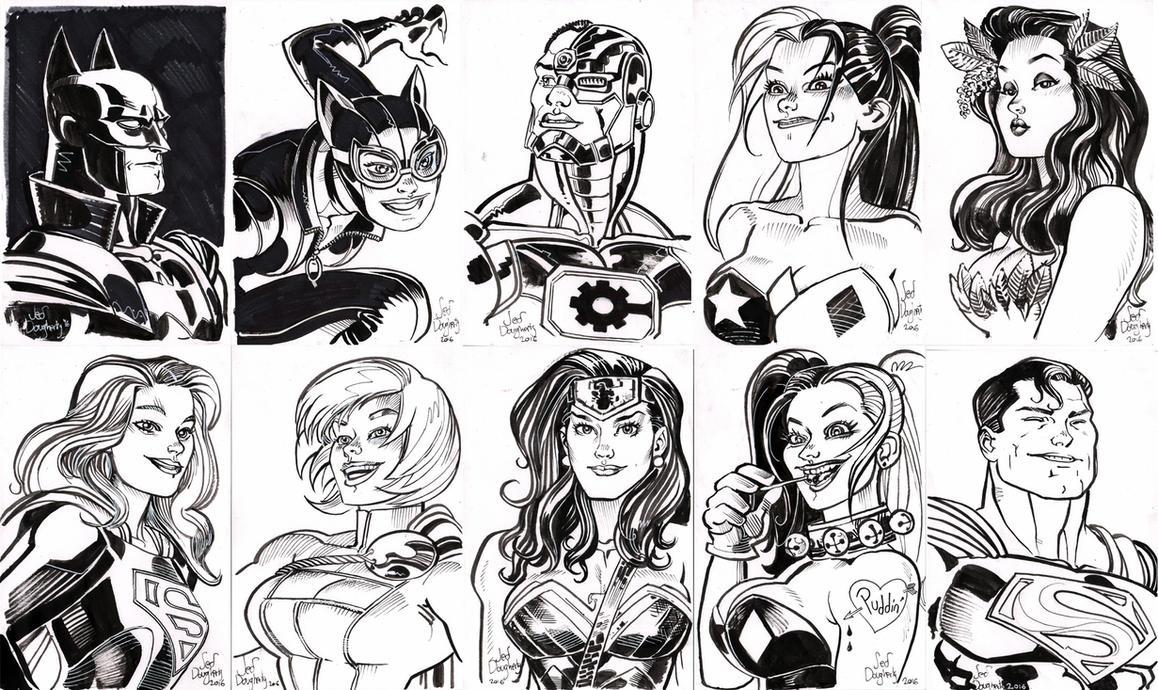 $20 head sketches by Jebriodo
